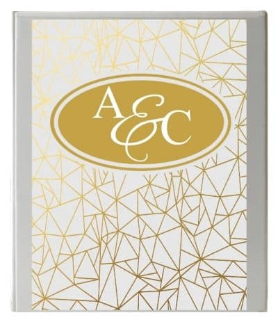 One Letter Monogram Binder Cover Template