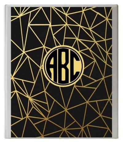 Free Monogram Binder Cover | Customize Online | Instant ...