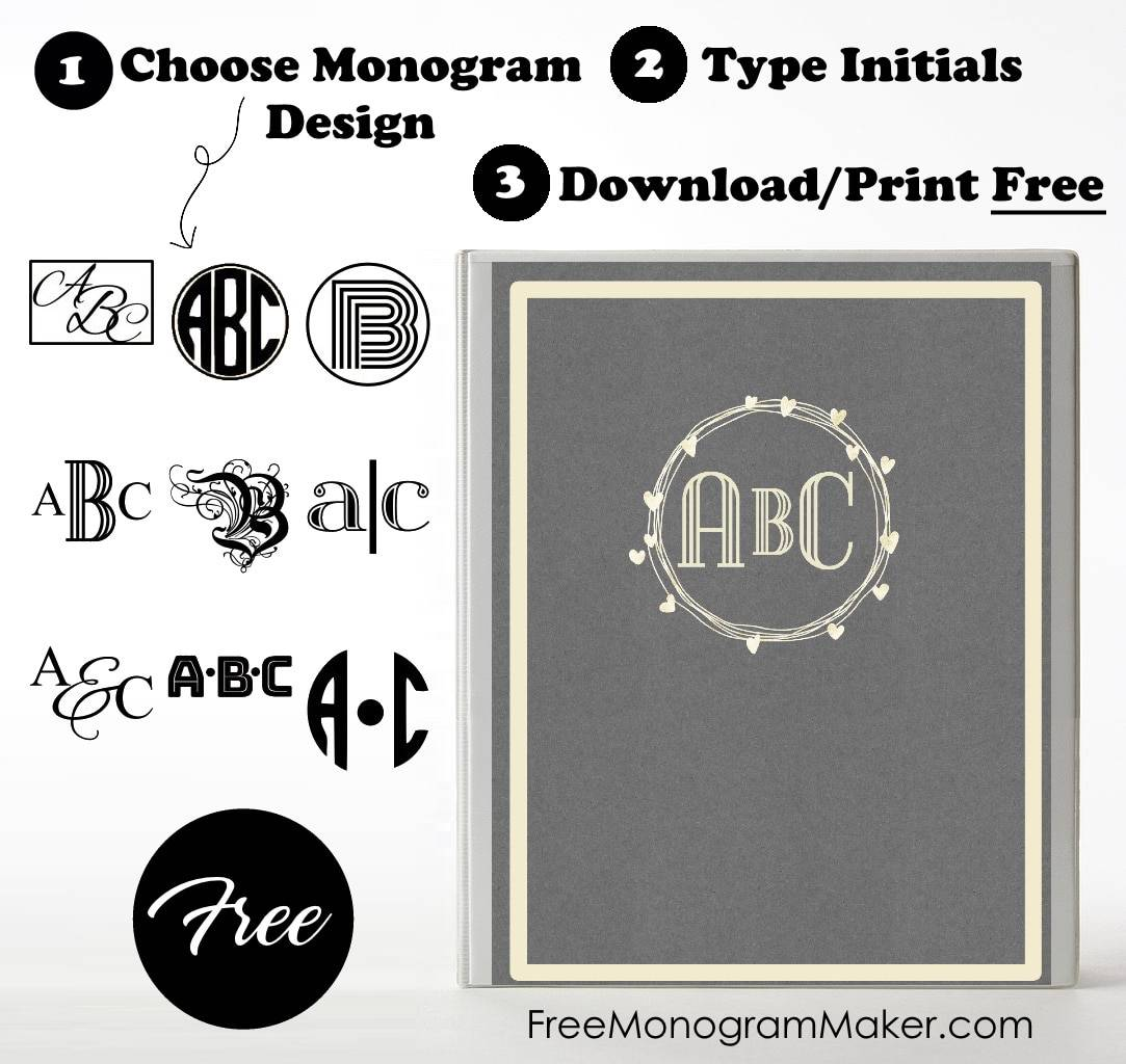 A Monogram Binder Cover Can Turn Simple Into Pretty Personalized Creation It Is So Easy To Make And We Offer Wide Selection Of Both Designs