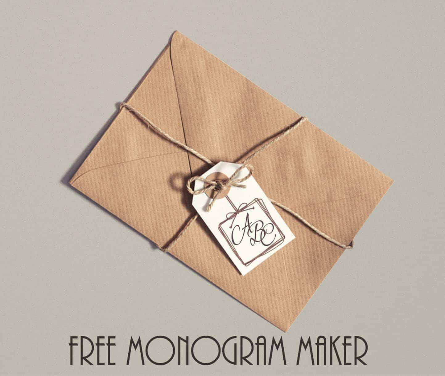 picture about Printable Monogram Maker identify Free of charge Printable Customizable Present Tags Personalize on the internet
