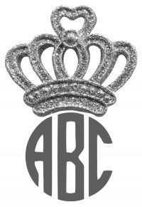 Crown on monogram