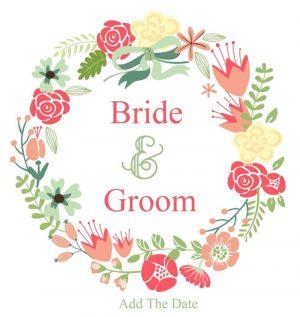 pretty logo for wedding