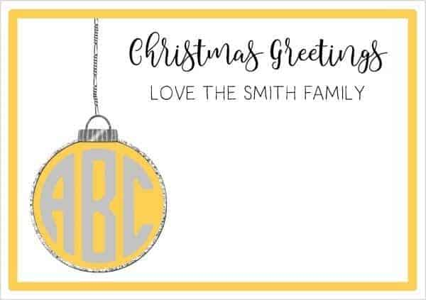 Monogrammed Christmas cards