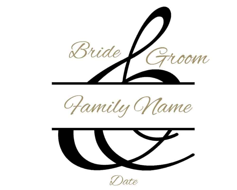 picture relating to Printable Monogram Maker known as Free of charge Custom made Wedding day Monogram