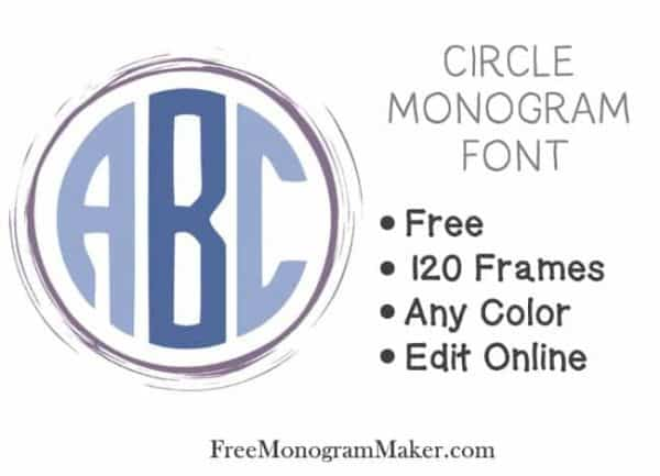 Circle monogram font free create online with free monogram maker there are two methods to create your free circle monogram spiritdancerdesigns Images