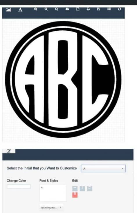 Circle Monogram Font Free Create