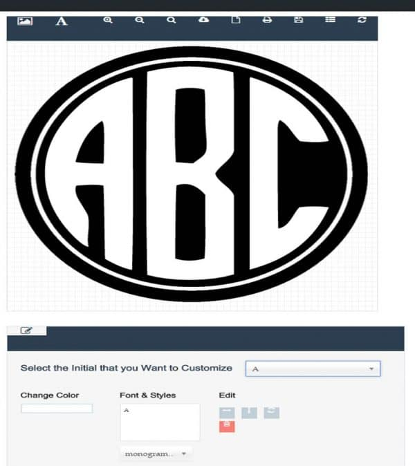Circle Monogram Font Free Create Online With Free