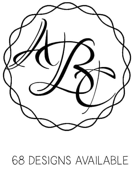 You Can Change The Font To A Master Circle Monogram Font. Click On The  Circle Design You Want To Use To Open The Circle Monogram Maker. Select The  Letter A ...