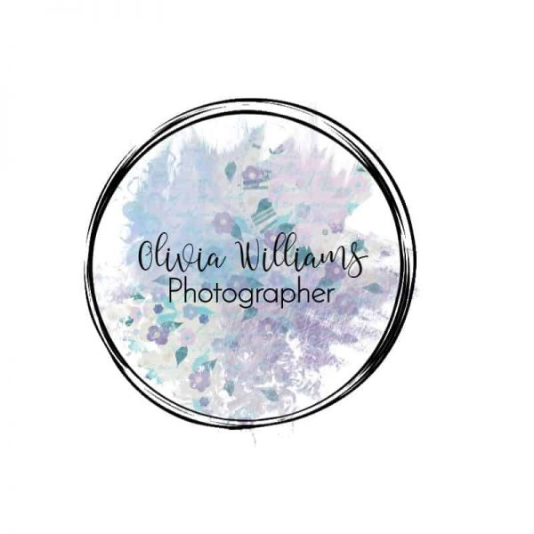 black circle with pastel colored paint