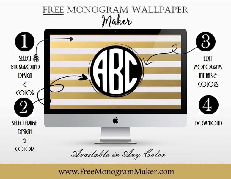 Free Monogram Wallpaper Maker | Customize Online