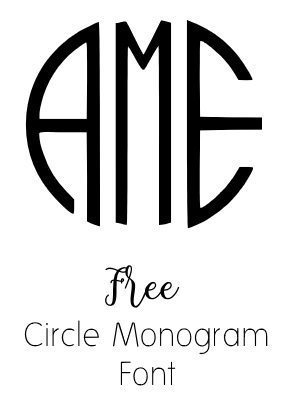Circle Monogram Font Free on stationery online
