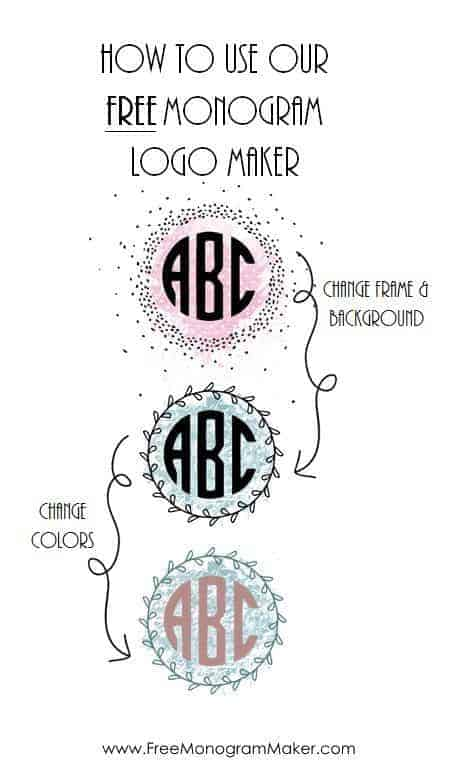 how to use our monogram logo maker