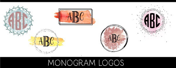 Free monogram logo maker hundreds of designs this painted monogram logo can be made with a choice of painted backgrounds and a choice of frames use our free monogram maker to customize your initials spiritdancerdesigns Choice Image