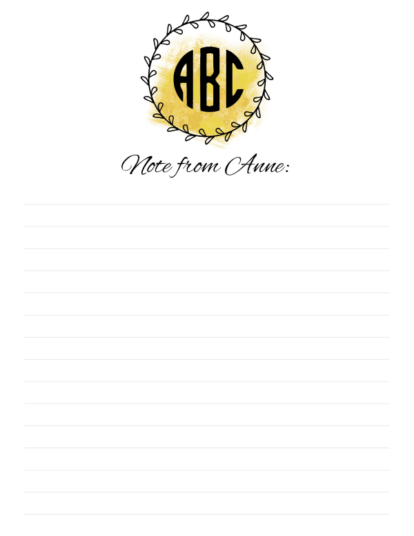 free monogrammed stationery personalize online print at home