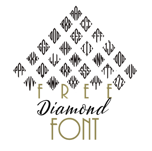 free diamond monogram font