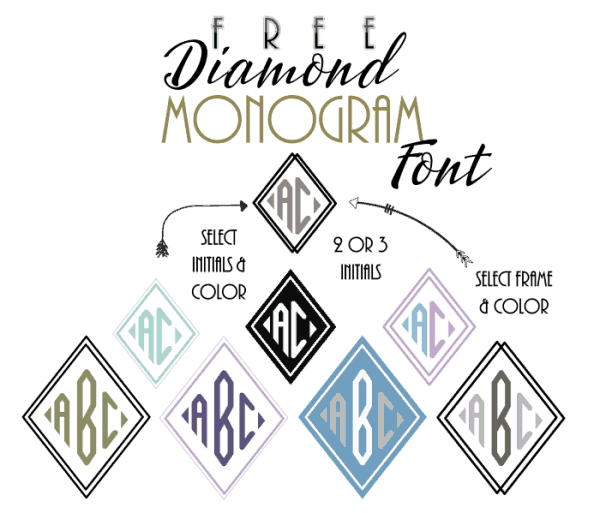 diamond monogram font