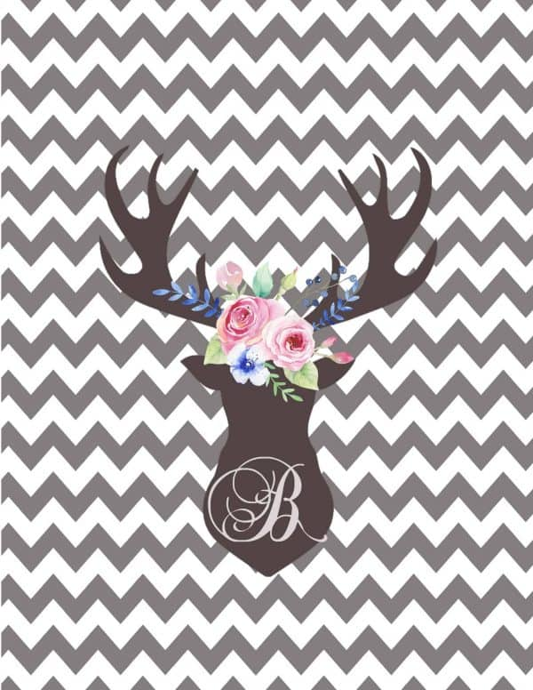 deer head silhouette printable