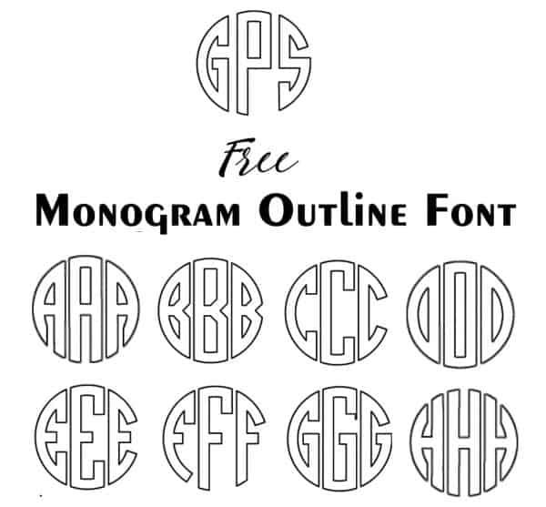 Monogram Outline Font