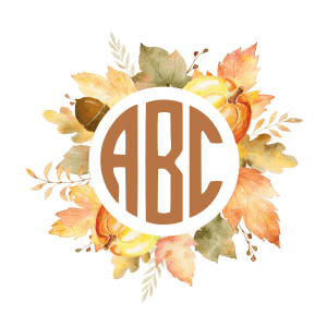 fall monogram design