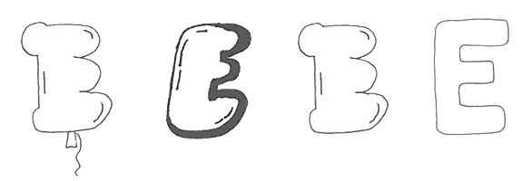 bubble letter
