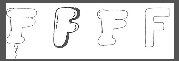 bubble letters