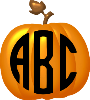 pumpkin with monogram