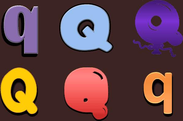 bubble letter r