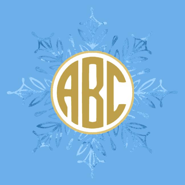free custom snowflake monogram