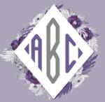 purple floral frame