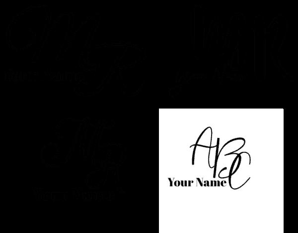 Cursive monogram