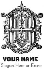 letter h gothic style