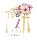Pretty gold frame with one initial font