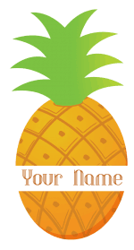 split pineapple monogram