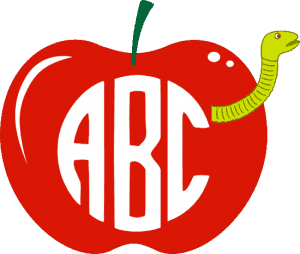apple with worm
