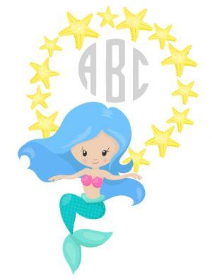 Monogrammed mermaid