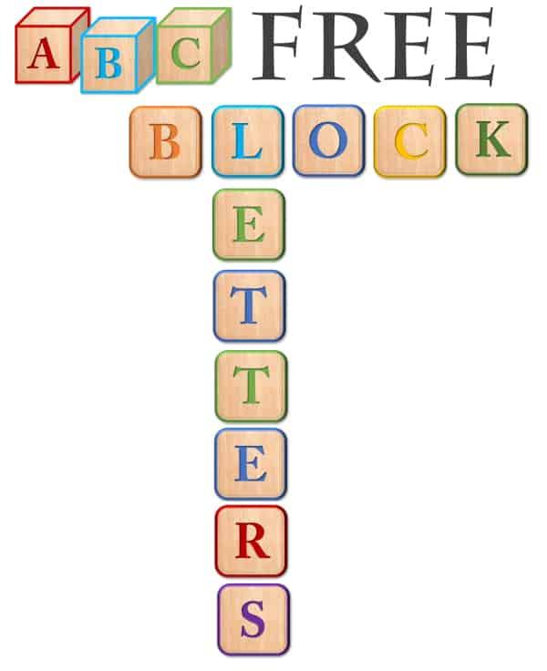 Free Block Letter Alphabet