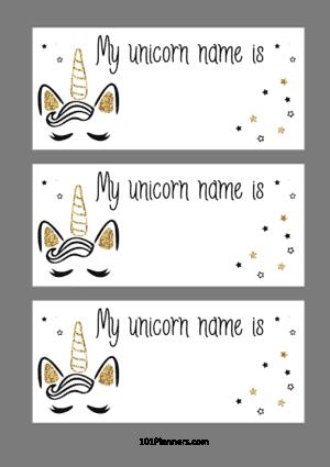 My unicorn name is