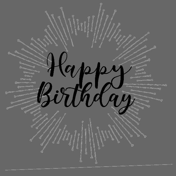 Happy birthday handwriting